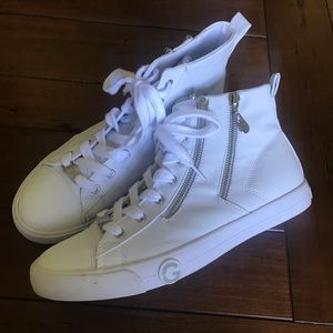 Guess High Top White Sneakers